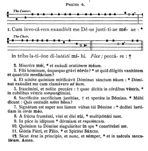 Psalm 4 from the Liber Usualis