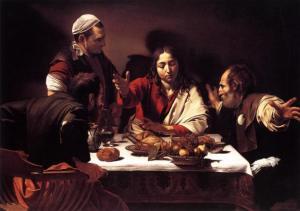 "Caravaggio, ""Supper at Emmaus"" (1601)"