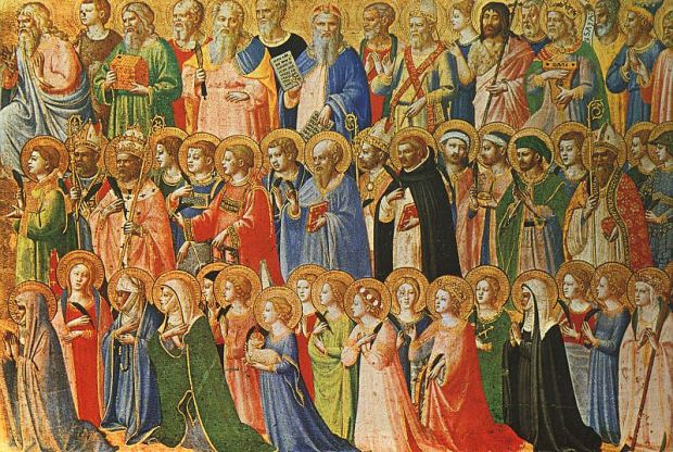 All Saints picture by Fra Angelico (1420s).