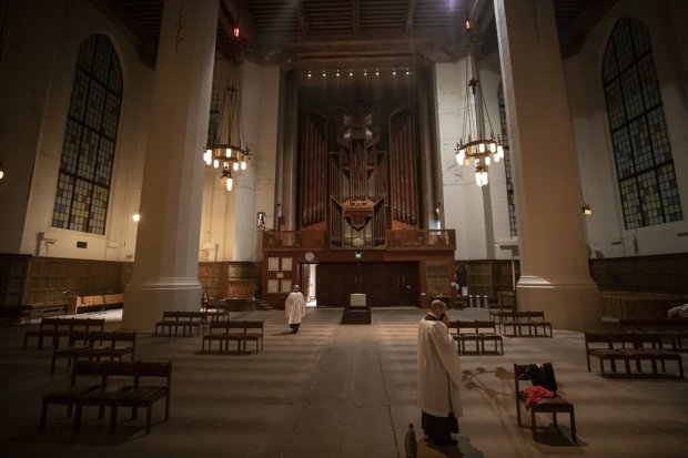 Getting ready for Compline (Seattle Times)