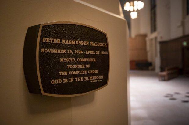 Peter Hallock - his niche in the Compline Corner