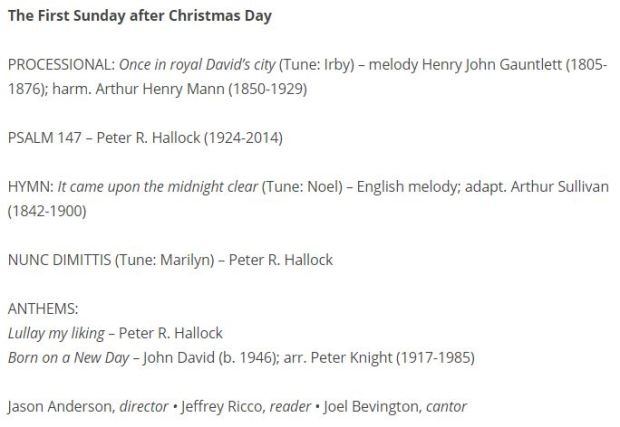 Archived Compline for 12-27-2020