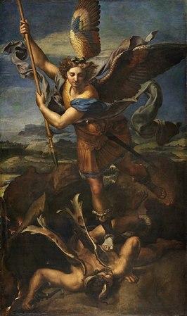 Saint Michael Vanquishing Satan, by Raphael
